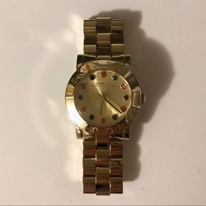 Gold watch by Marc Jacobs